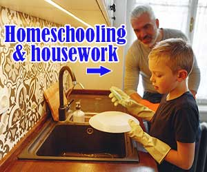 Combining homeschooling with housework Nov20