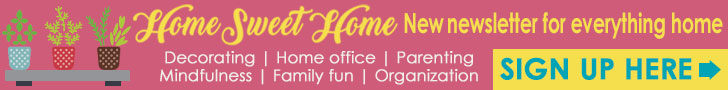 Newsletter Home Sweet Home signup