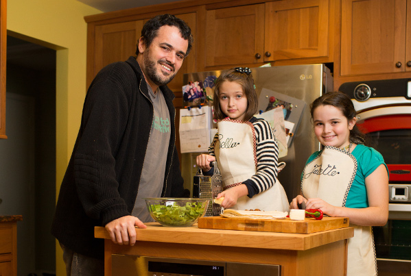 I am a Hudson Valley Parent, Josh Kroner, Chef, Family cooking