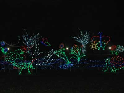 Christmas Lights, Santa, Holiday light displays