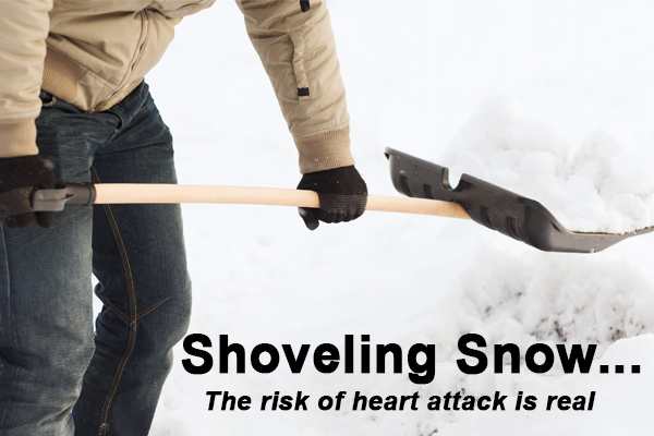winter storm jonas approaching shoveling snow heart attack