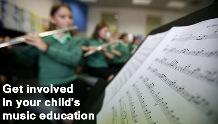 tips to get involved in child's music education
