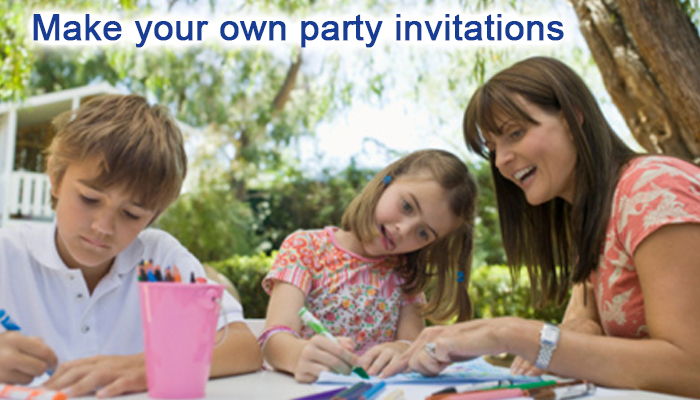 tips for making your own birthday party invitations