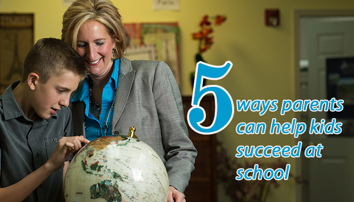 5 ways parents can help kids succeed at school