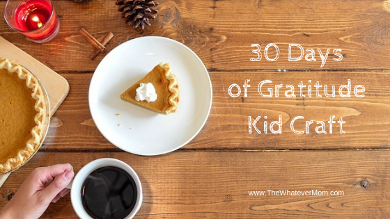 30 Days of Gratitude Turkey Craft