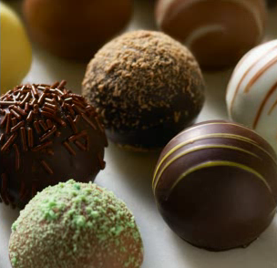 chocolate balls,sweets, yummy