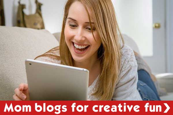 Check out mom blogs for creative things to do at home
