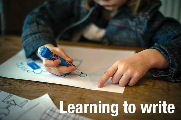 Children begin mastering writing skills earlier then you think