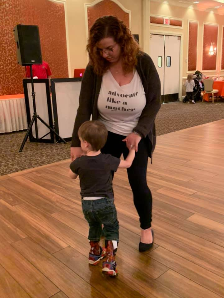 Flynn and mommy dancing.