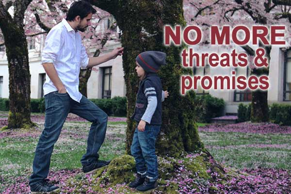 How to stop yourself from promising and threatening