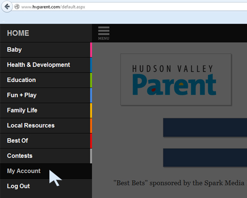 Use your HVParent account