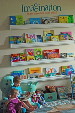 childrens book wall