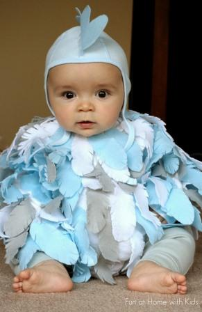 This Baby Chicken Costume is a perfect last minute Halloween costume for baby! Instructions and more photos on Fun at Home with Kids blog.  sc 1 st  Hudson Valley Parent & DIY Halloween Costumes