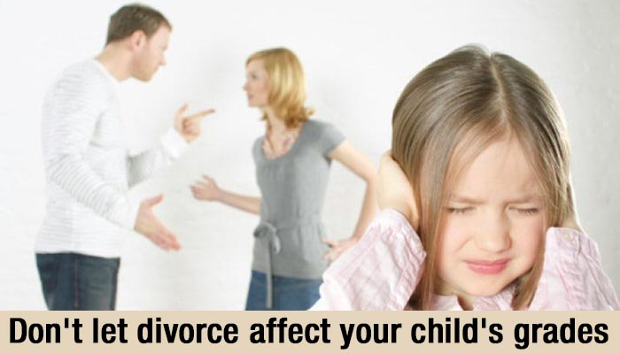 is my divorce affecting child grades at school