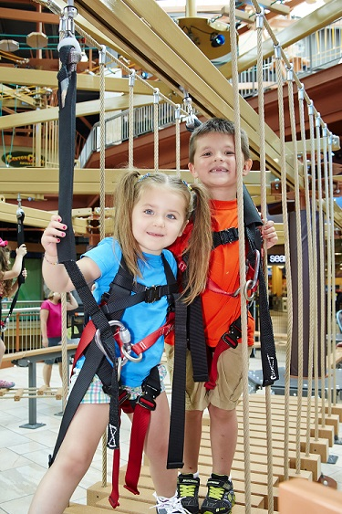 Ropes Course, Indoor Play, Kids love ropes courses