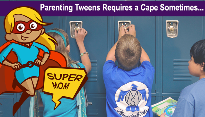 superhero mom parenting middle school tweens