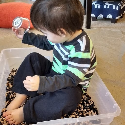 sensory diet, rice bin, autism, awareness, sensory processing