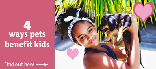 Pets are a wonderful addition to the family. They help teach kids all kinds of good things.